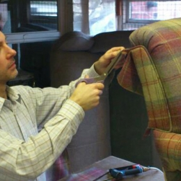 Price Brothers & Sons carrying out re-upholstery work