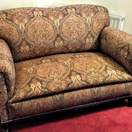 Antique coil sprung couch
