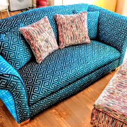 Sofa & chair recovered